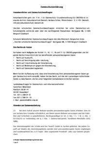 Datenschutzerklärung muster pdf